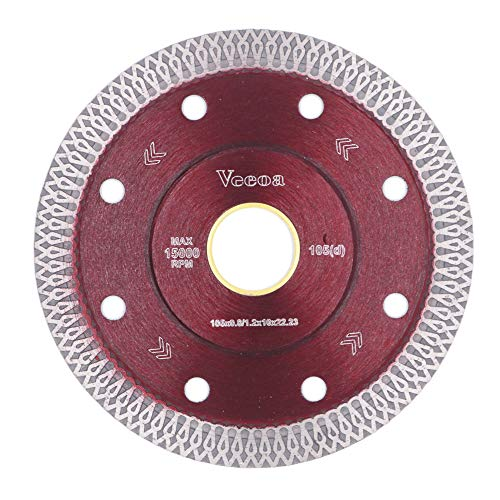 Vceoa 4 Inch Super Thin Diamond Saw Blade for Cutting Porcelain Tiles,Granite Marble Ceramics (4,Red)