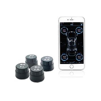 Sistema de medición de temperatura y presión de los neumáticos con Bluetooth TPMS, alarma y 4 sensores externos, de la marca KUFUNG: Amazon.es: Coche y moto