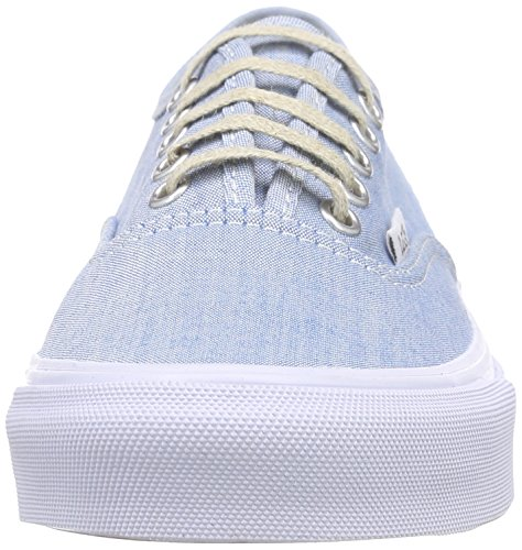 Unisex blue Ginnastica Blu Vans White chambray Scarpe true Authentic Slim Basse Da Adulto YvwFZCq