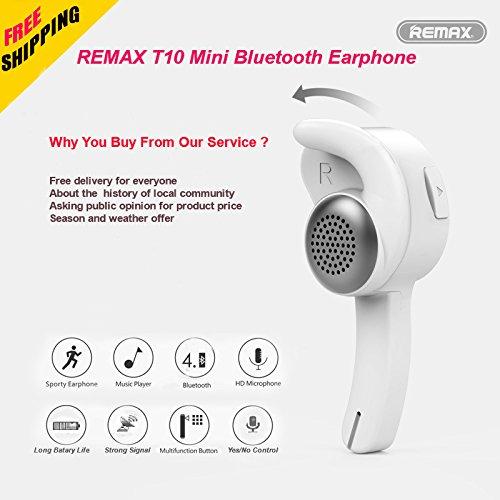 d0b219486de hot sale Bluetooth Headset, REMAX T10 Mini Bluetooth Earphone Wireless  Headphone In-ear Headset