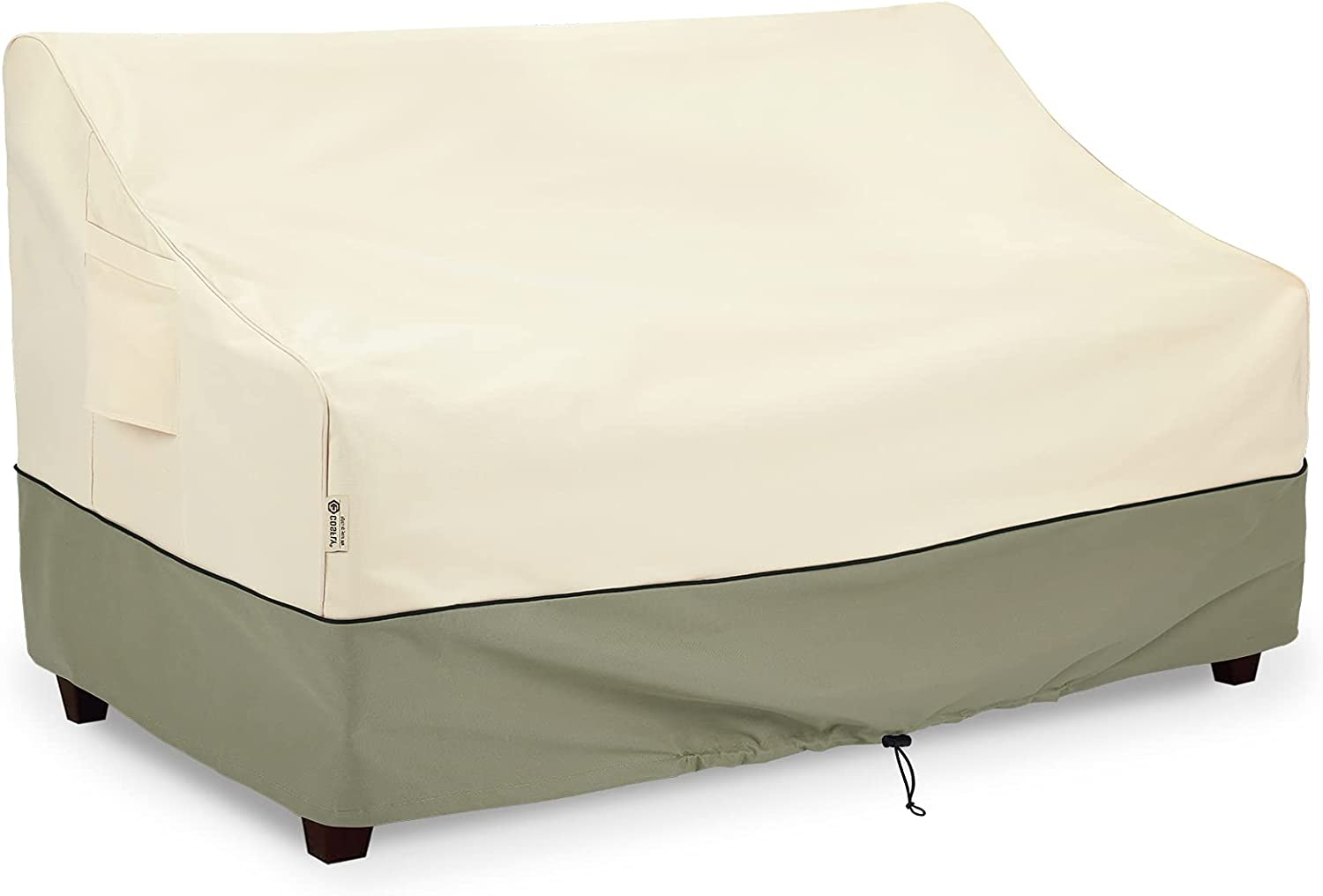 COSFLY Outdoor Furniture Patio Sofa Covers Waterproof, Outside Loveseat Covers Fits up to 58W x 32.5D x 31H inches