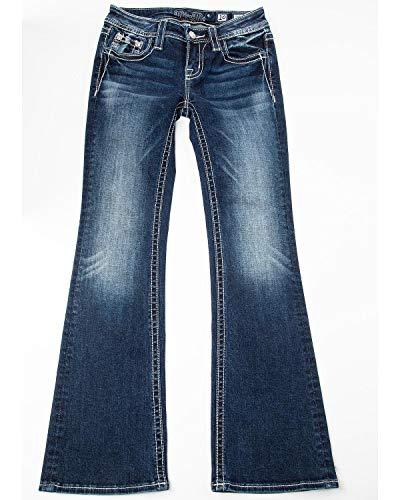 Miss Me Girls' Fringe Bootcut Jeans Dark Blue 12