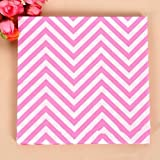 BoatShop 23 PCS Colored Wave Pattern Paper Napkins 2 Layers Party Banquet, Pink