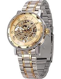 Transparent Dial Skeleton Hand-winding Mechanical Wrist Men's Sport Watch PMW223