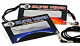#3: Eclipse Glasses and Solar Viewers - Total Solar Eclipse 2017 (5 Pack) CE & ISO Certified - Includes Wearable Lanyard - Great for Kids!! Made in USA