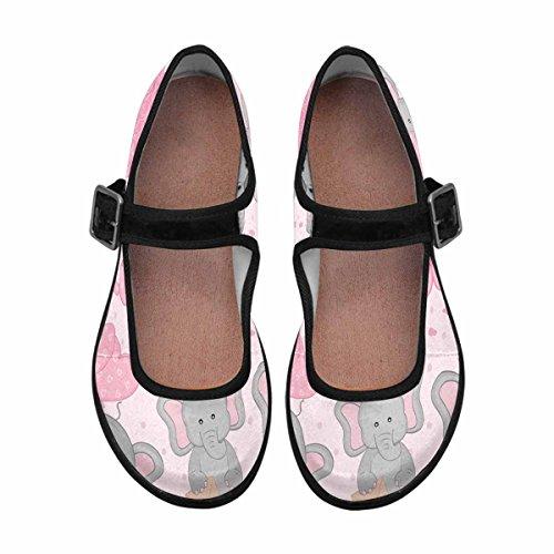 Interestprint Mujeres Comfort Mary Jane Flats Zapatos Casual Para Caminar Multi 5