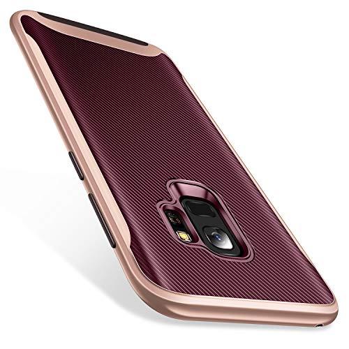 - Galaxy S9 Case, TORRAS Slim Fit 2 in 1 Hybrid Soft TPU Rubber Cover Hard Plastic Bumper Scratch Resistant Phone Case Samsung Galaxy S9,Burgundy+Rose Gold