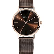 Bering Classic Collection 13436-265 clock Man Steel Quartz Rosé
