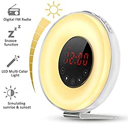 Urban Basics Wake Up Light Alarm Clock with Sunlight Simulation