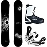 System DNR and Summit Men's Complete Snowboard Package New 2017