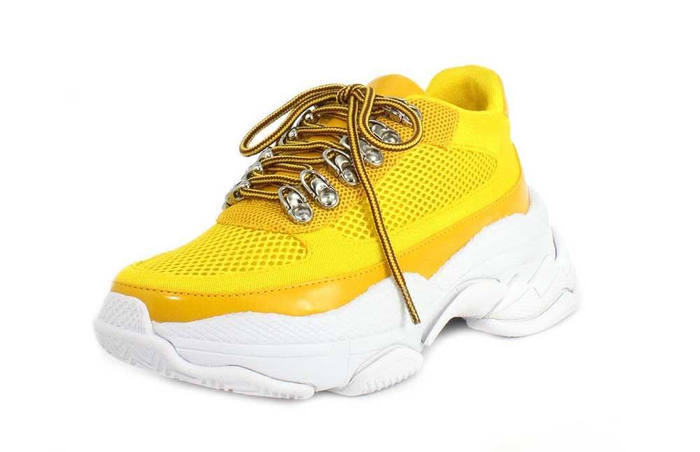 Jeffrey Campbell Womens Hotspot Sneaker B07CCGXKR4 9.5 B(M) US|Yellow Mesh Combo