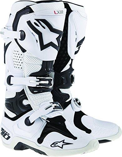 Alpinestars Tech 10 Vented Mens White Motocross Boots - - Tech Buckle Alpinestars 8