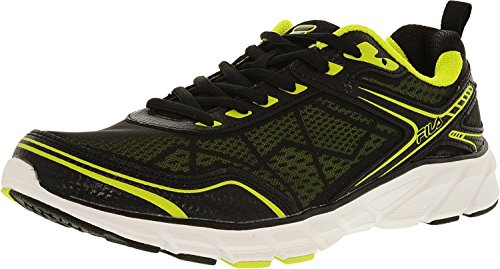 Image of the Fila Men's Memory Granted Running Shoe, Black Lime, Size 8.5