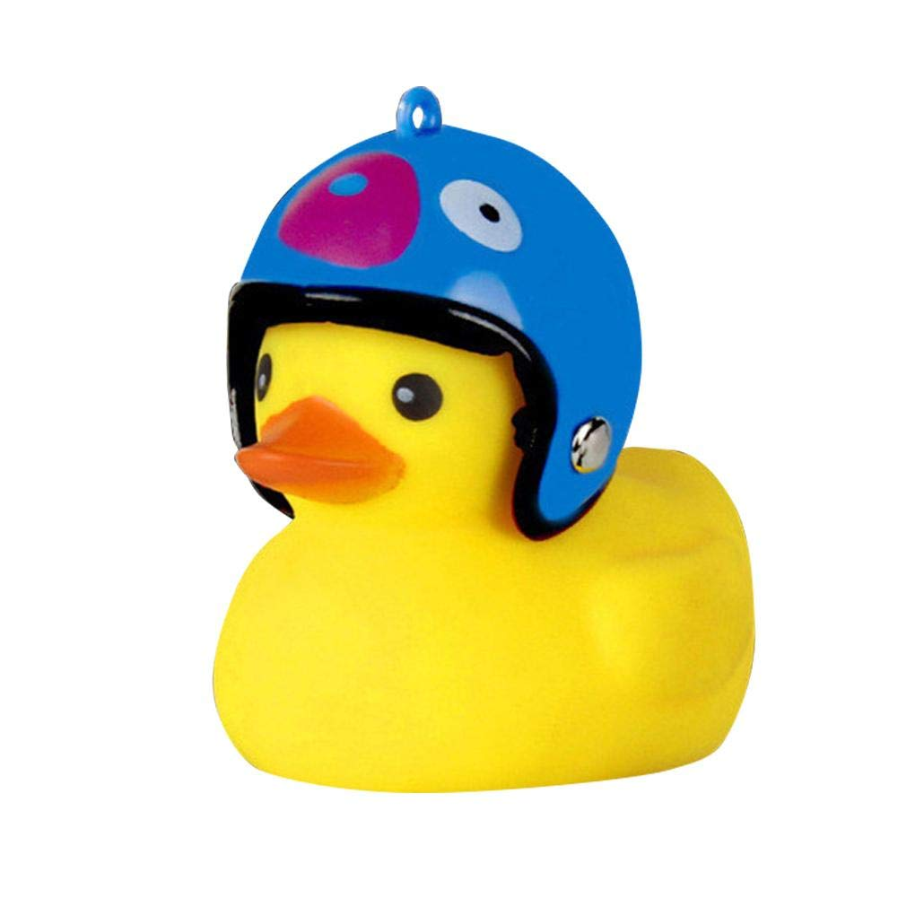 Kids Bike Horn Cute Bicycle Lights Bell Squeeze Horns for Toddler Children Adults Cycling Light Rubber Duck Toys Lovely Helmet Duck Network Explosion Cute Riding Light Make Your Ride Full of Fun