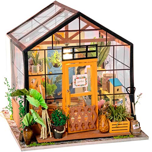 (Rolife Dollhouse Wooden Room Kit-Flower Green House-Home Decoration-Miniature Model to Build )