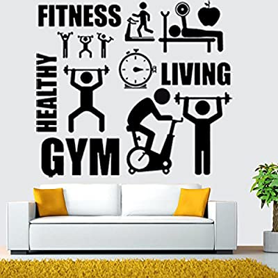 Wall Decal Healthy Lifestyle Sport Motivation Fitness Gym Vinyl Stickers