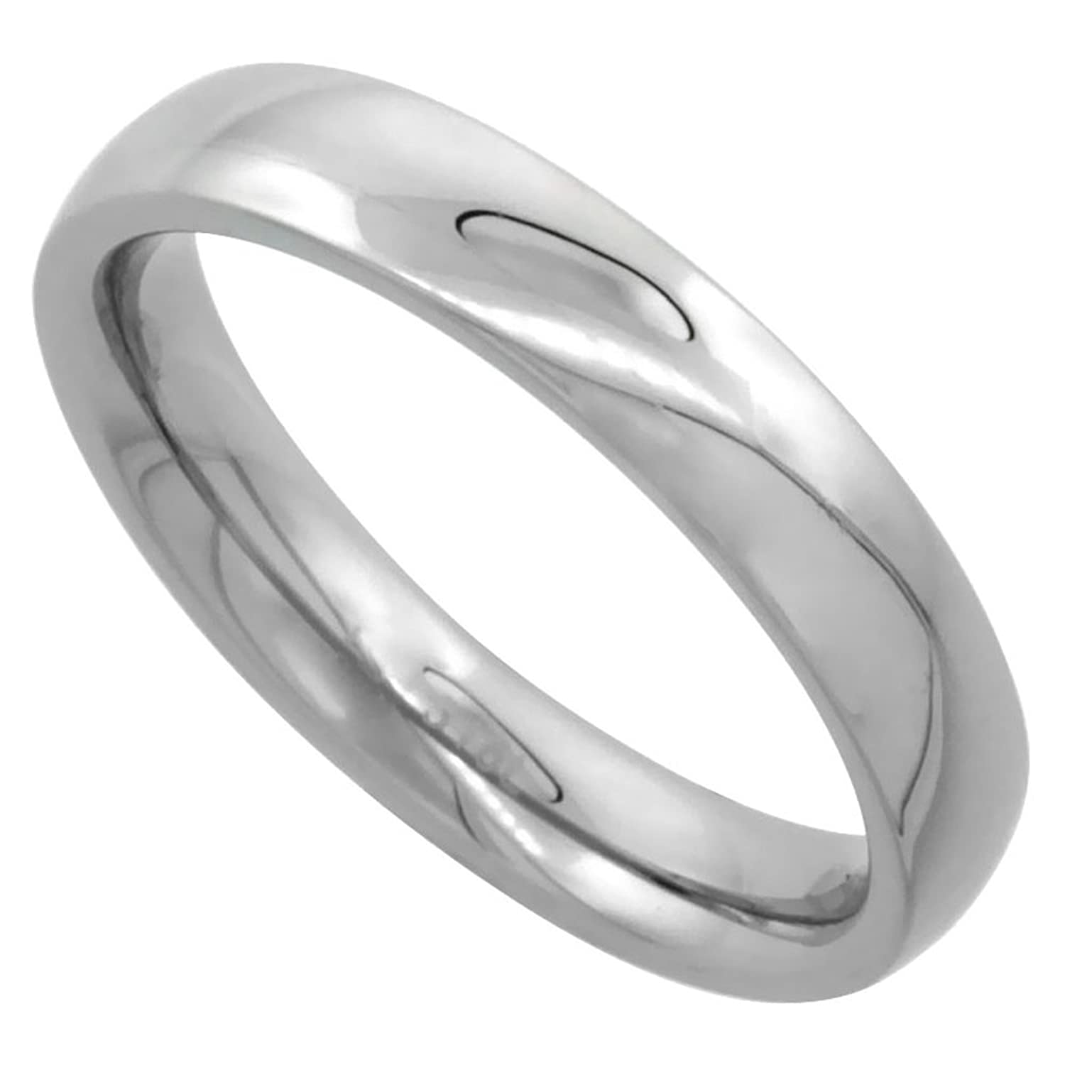 Amazon Surgical Steel Plain Wedding Band Thumb Ring 4mm
