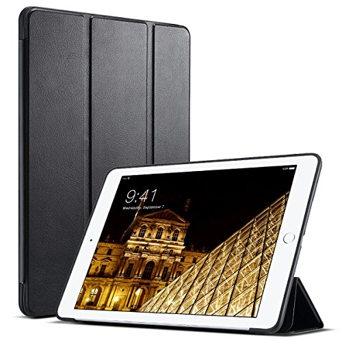 ULAK iPad 9.7 2018/2017 Case, Slim Lightweight Smart Case Trifold Cover Stand with Flexible Soft TPU Back Cover for iPad Apple iPad 9.7-inch Auto Sleep/Wake - Black