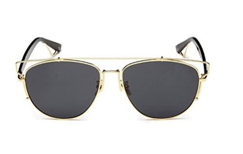 3c2e72fb698 GMAT Retro Vintage Mirrored Aviator Sunglasses Metal Frame Classic Style  (Gold Frame Grey