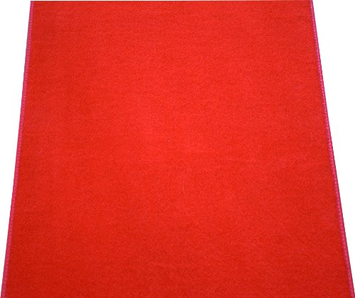 Dean Red Carpet Runner - Indoor/Outdoor Wedding Aisle Boat Event Party Rug 3' x 6' ()