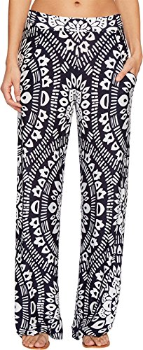 Trina Turk Women's Indochine Wide Leg Pant Cover-Up Midnight Large by Trina Turk