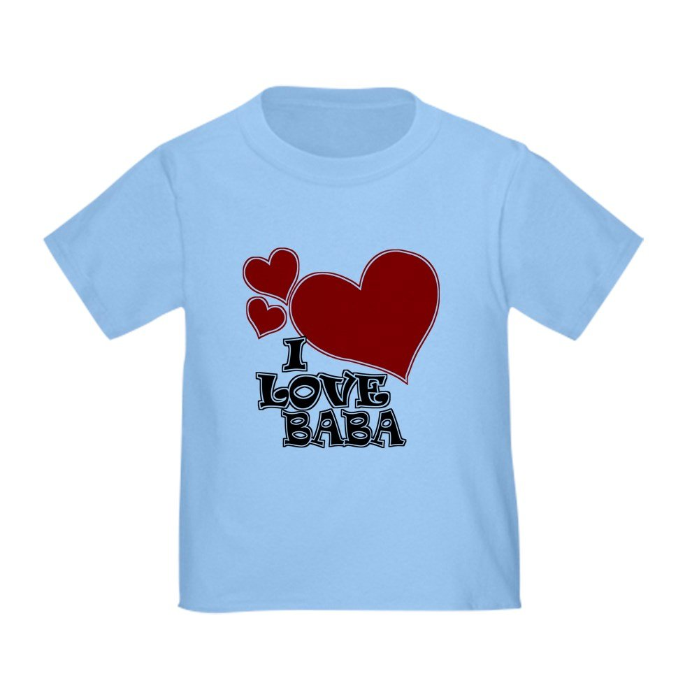 CafePress - I Love Baba - Cute Toddler T-Shirt, 100% Cotton
