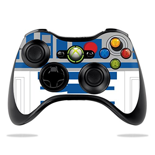 MightySkins Skin Compatible with Microsoft Xbox 360 Controller - Cyber Bot | Protective, Durable, and Unique Vinyl Decal wrap Cover | Easy to Apply, Remove, and Change Styles | Made in The USA (Xbox 360 Starwars Controller)
