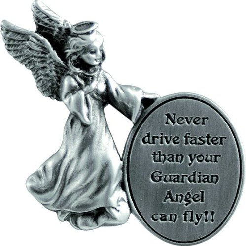 Never Drive Faster Cathedral Art KVC163 Auto Visor Clip 2-3//8-Inch