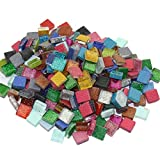 MS 200Pcs/200g Mosaic Tiles Decoration Crafts 10MM Rectangle Mixed Color Glass