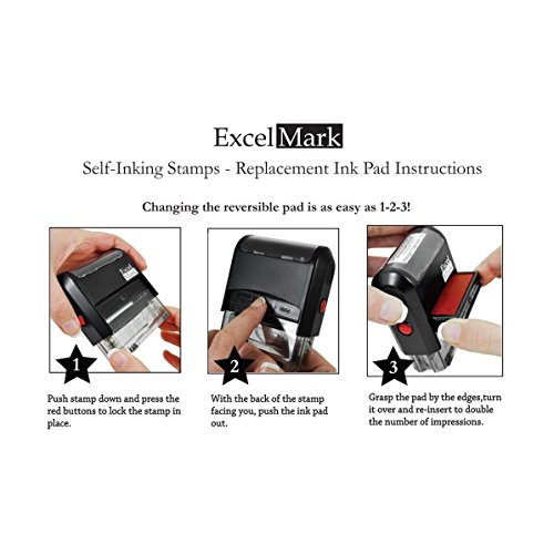 YOUR ACCOUNT IS PAST DUE - Self Inking Bill Collection Stamp in Red Ink by ExcelMark (Image #1)