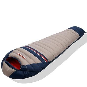 Estilo momia saco de dormir ligero y transpirable/ pluma de ganso bolsa de dormir doble-E: Amazon.es: Deportes y aire libre