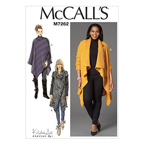 McCall's Patterns M7262 Misses'/Women's Sweater Coat & Poncho, RR (18W-20W-22W-24W) ()