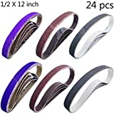 Sackorange 24 PCS 1/2 x 12 Inch Knife Sharpener Sanding Belts
