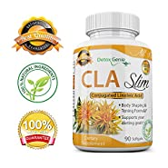 CLA Safflower Oil Conjugated Linoleic Acid Non Stimulant Fat Burner & Muscle Toning 3000mg Daily Dose 90 Softgels for Men & Women Weight Loss Supplement Pills