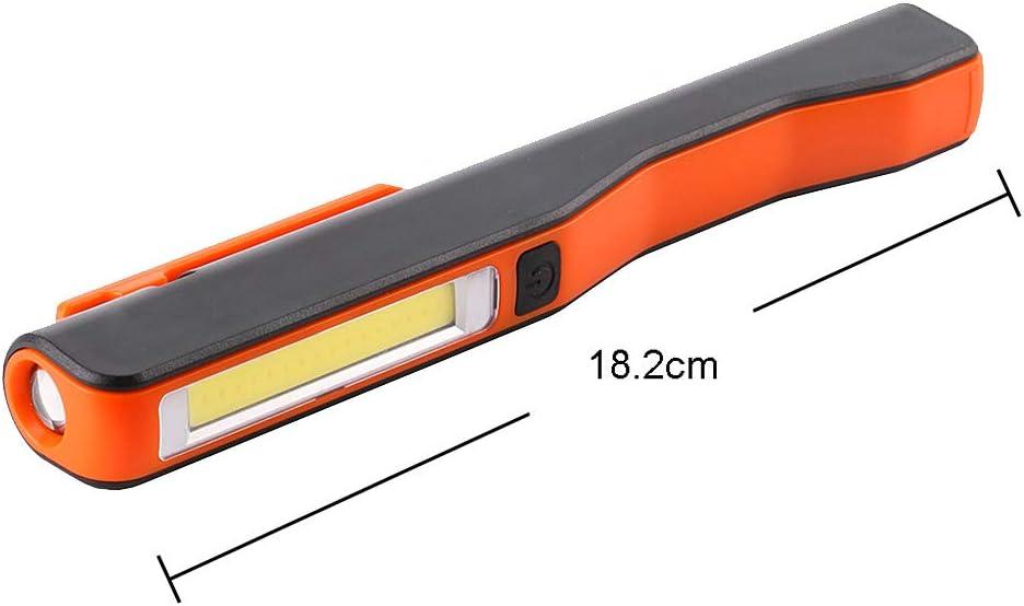 Luz de correr para corredor Filfeel impermeable al aire libre port/átil LED mini bot/ón de noche de silicona clip l/ámpara luz estrobosc/ópica