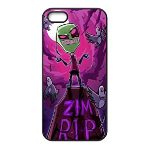FOR Apple Iphone 5 5S Cases -(DXJ PHONE CASE)-Cartoon Game Pattern Invader Zim Gir-PATTERN 11
