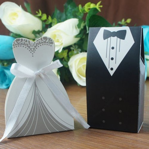 GRC[TM] Best Price 100 pcs Bridal Groom Dress Tuxedo Wedding Gift ...