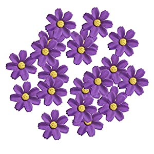 KODORIA 100pcs Artificial Flower Heads Silk Daisy Flower Heads for DIY Baby Shower, Home Party Wedding Favor Decoration DIY Craft Fake Flowers - Dark Purple 33