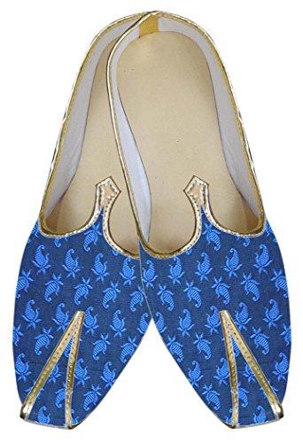 INMONARCH Zapato de Boda Increíble Azul Hombres MJ0013