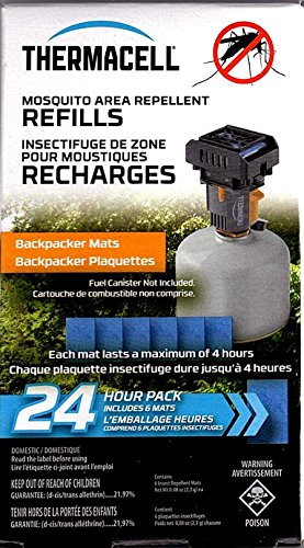 Thermacell Mosquito Area Repellent Backpacker Refill, 24 Hours