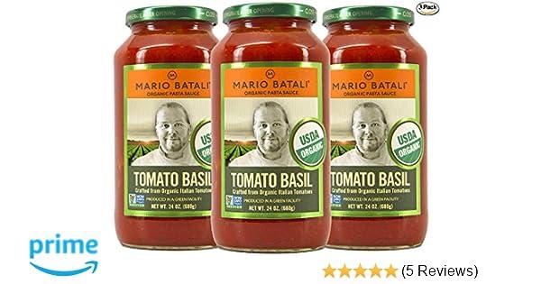 Amazon.com : Mario Batali Organic Tomato Basil Sauce 24 oz (3 Pack) : Grocery & Gourmet Food