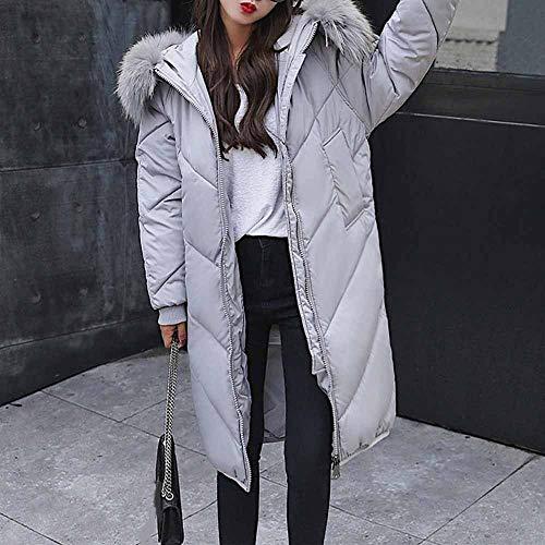 caldo cappuccio con autunno Jacket Donna Pullover con casual Parka Down soprabito lana risvolto con Inverno Style XL Cappotto grigio giacca in Sport con Long con cappuccio Ragazza cappuccio COZYqwC