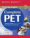 Complete PET. Student's book without answers. Per le Scuole superiori. Con e-book. Con espansione online. Con CD-ROM: 1
