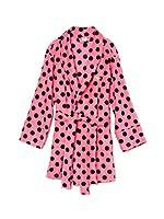 5d5b54fa56 Victoria s Secret PINK Women s Plush Robe X-Small Small Pink Polka Dot