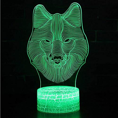 Zonxn Night Light Lizard Theme 3D Lamp Led Night Light 7 Color Change Touch Mood Lamp Christmas Present (Lights Lizard Color Seven)