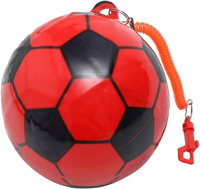 TOYANDONA Balón de fútbol Inflable con manija de Cadena elástica ...