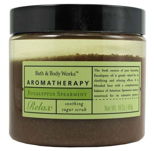 Bath & Body Works Aromatherapy Eucalyptus Spearmint Relax Soothing Sugar Scrub 16 oz