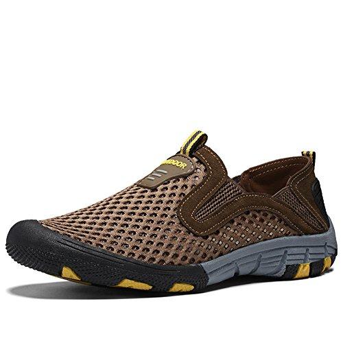Zapatos para hombre casuales y Los hombres se deslizan en los zapatos de deporte al aire libre Marrón