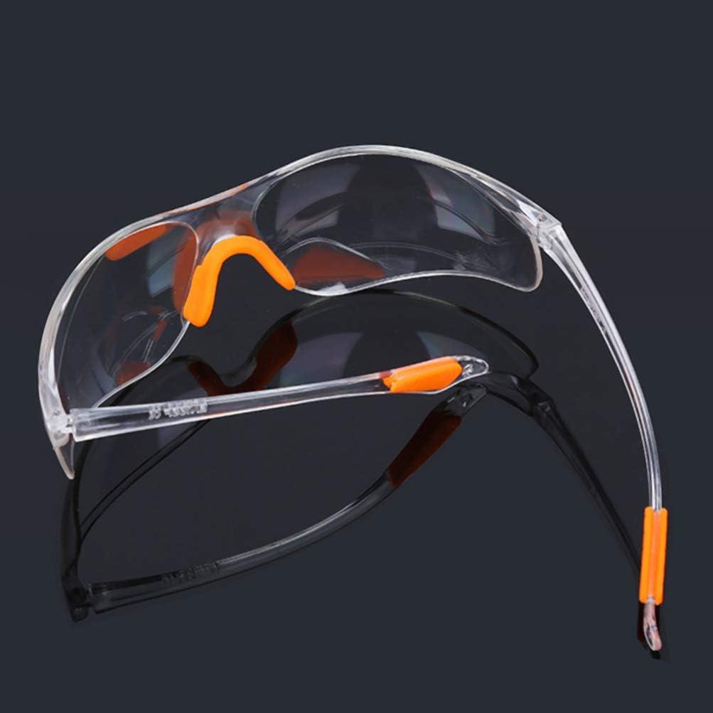 TOYANDONA 6Pcs Gafas Desechables Gafas Protectoras con Soporte Suave para La Nariz Anti Salpicaduras Anti Arena para Exteriores
