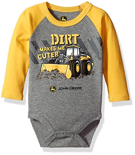 John Deere Baby Boys' Bodysuit, Dark Yellow, 6-9 Months